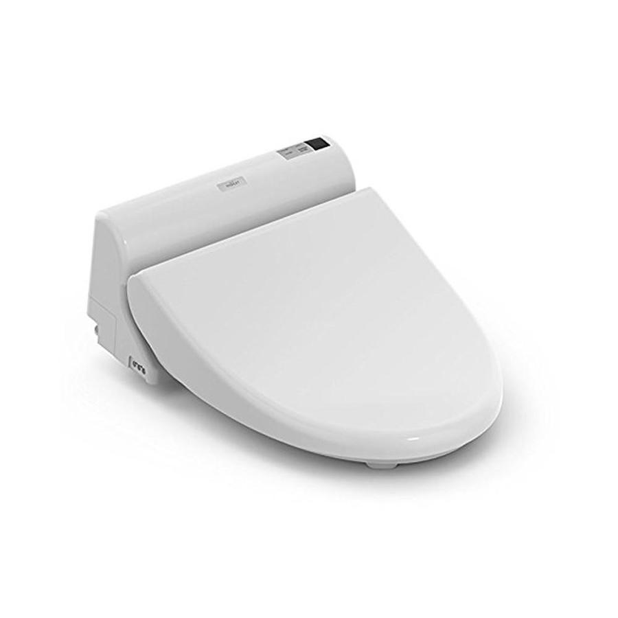 Toto B150 Washlet Cotton White Elongated Slow Close Heated Bidet Toilet Seat In The Toilet Seats Department At Lowes Com