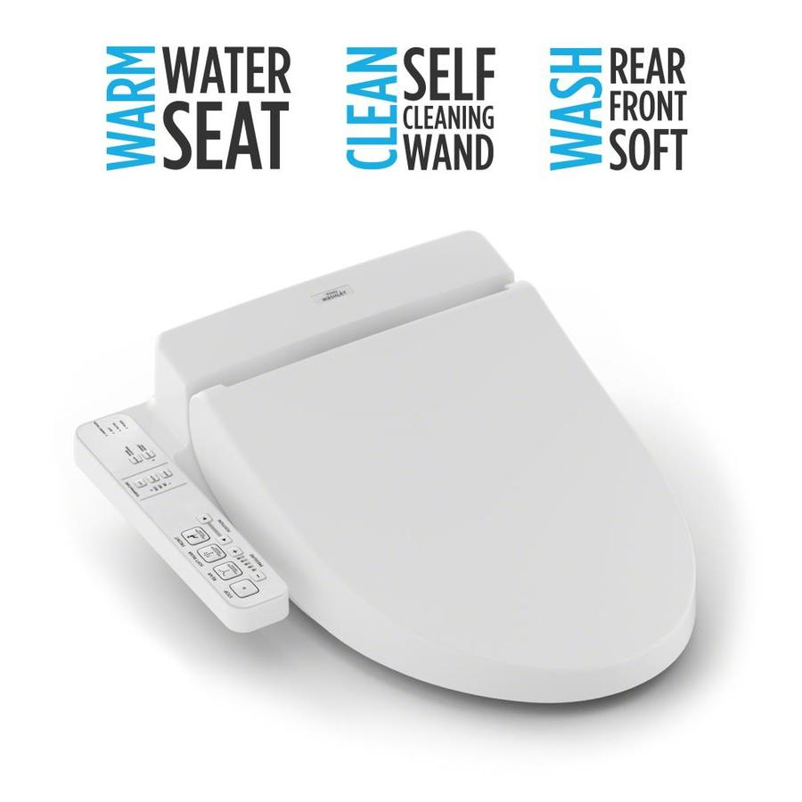 shop toto plastic elongated heated bidet function toilet seat at lowes