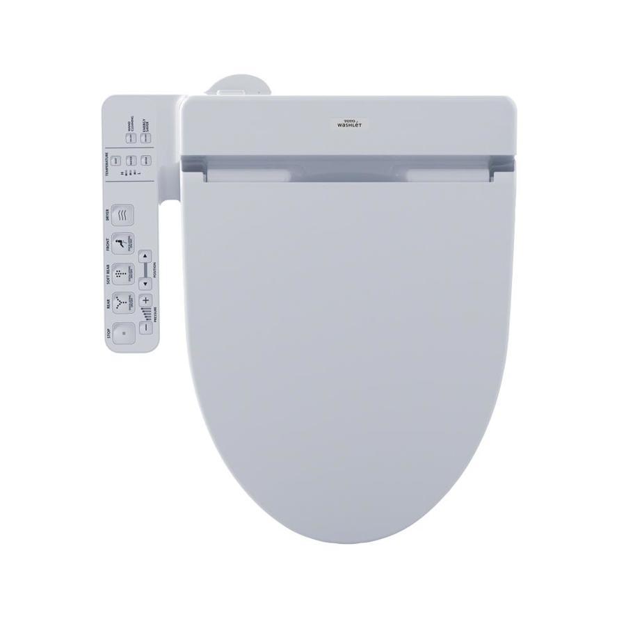 Shop TOTO Connect+ C100 Washlet Plastic Elongated Slow-Close ...
