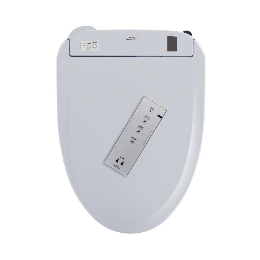 Shop TOTO Connect+ S350e Washlet Plastic Elongated Slow-Close Heated ...