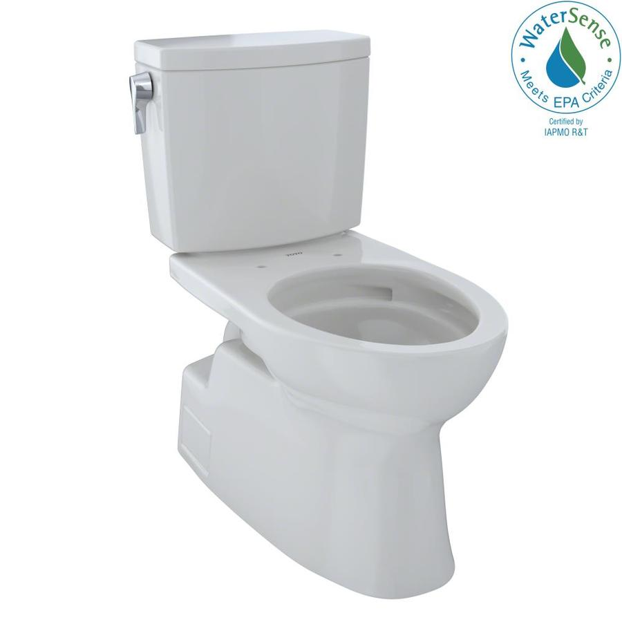 TOTO Vespin II 1-GPF (3.79-LPF) Colonial White Elongated Chair Height 2-piece Toilet