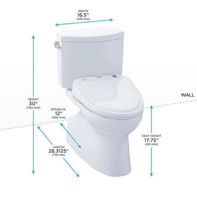Toto Connect Cotton White Watersense Elongated Chair Height 2 Piece Toilet 12 In Rough In Size With Slow Close Ada Compliant In The Toilets Department At Lowes Com