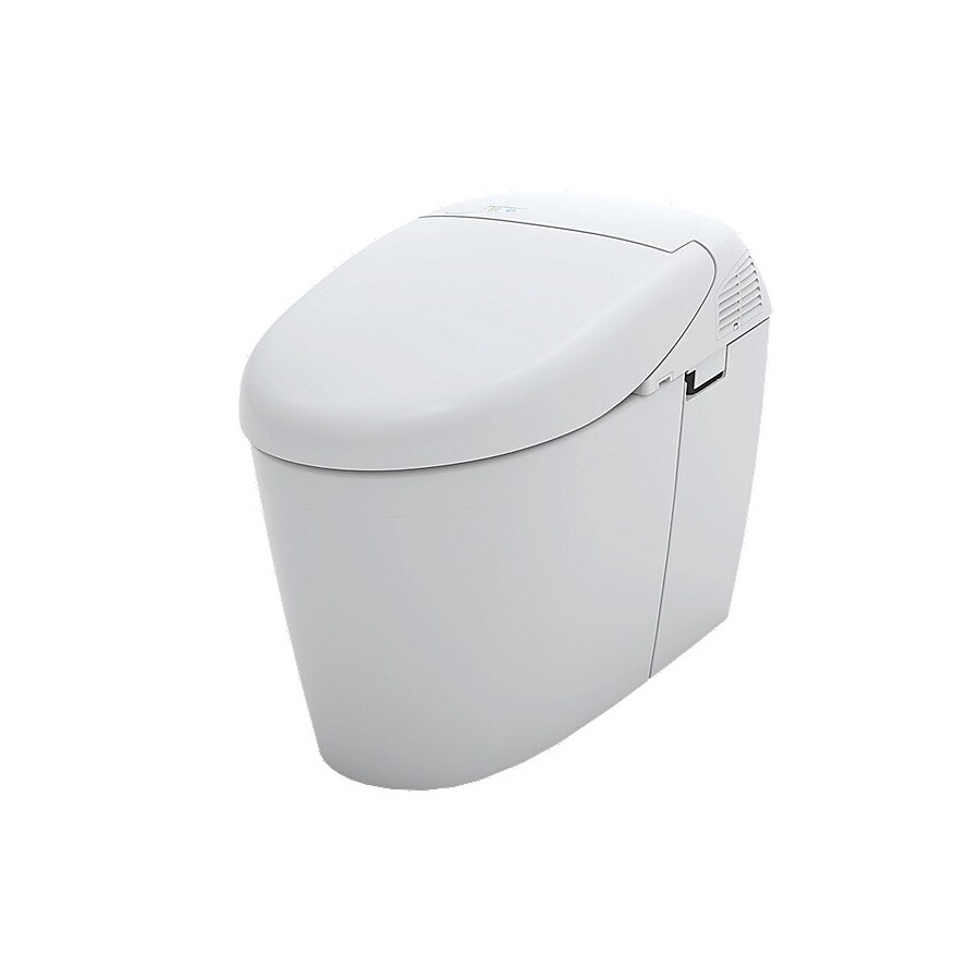 TOTO Neorest Cotton White 1.6; 0.8-GPF 12 Rough-In WaterSense Elongated Dual-Flush 2-Piece Standard Height Toilet