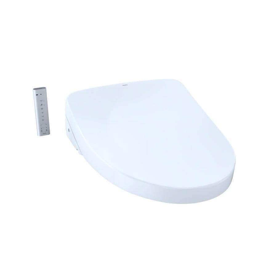 Shop TOTO S550e Modern Washlet+ Plastic Elongated Slow-Close Heated ...