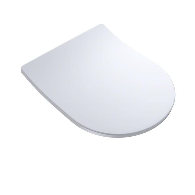 TOTO Cotton White D-Shape Slow-Close Toilet Seat In The