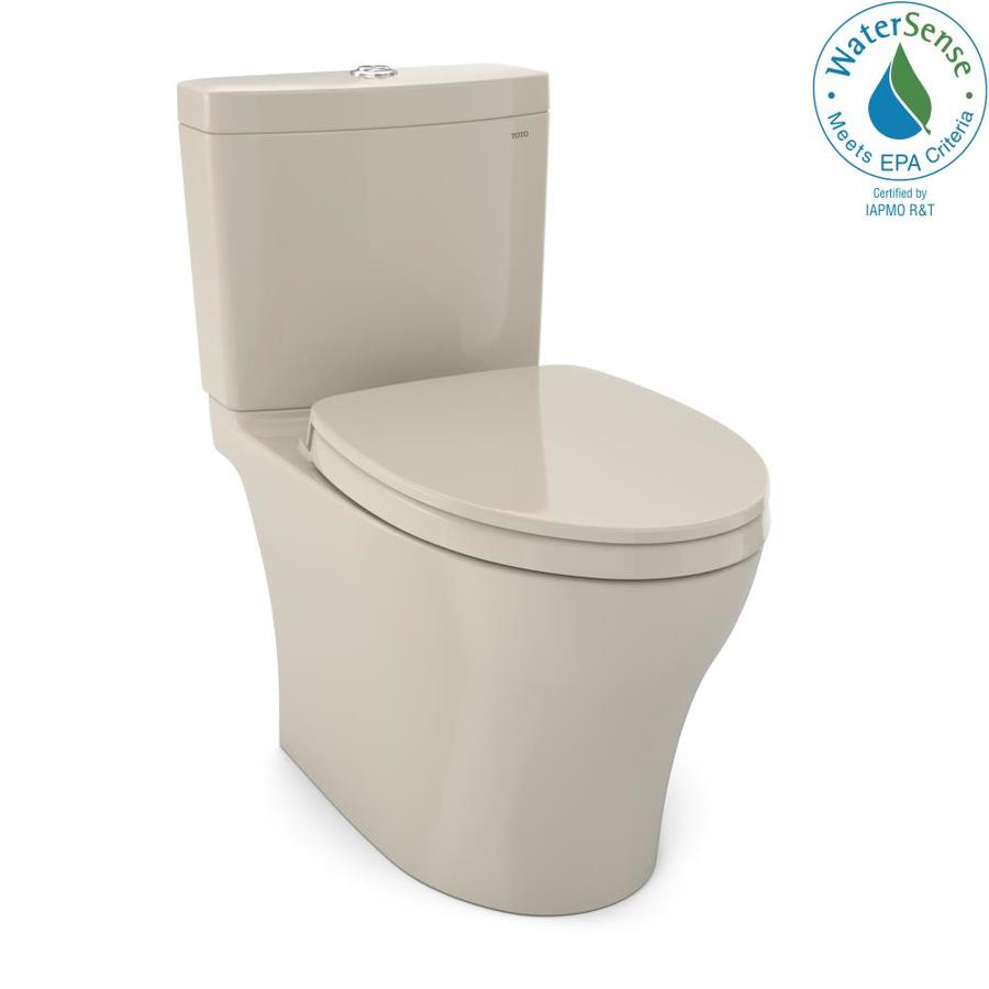 Shop TOTO Aquia IV Bone WaterSense Labeled Dual Elongated Chair ...