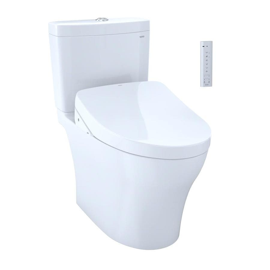 Shop TOTO Aquia IV 0.8 Cotton White WaterSense Elongated Chair ...