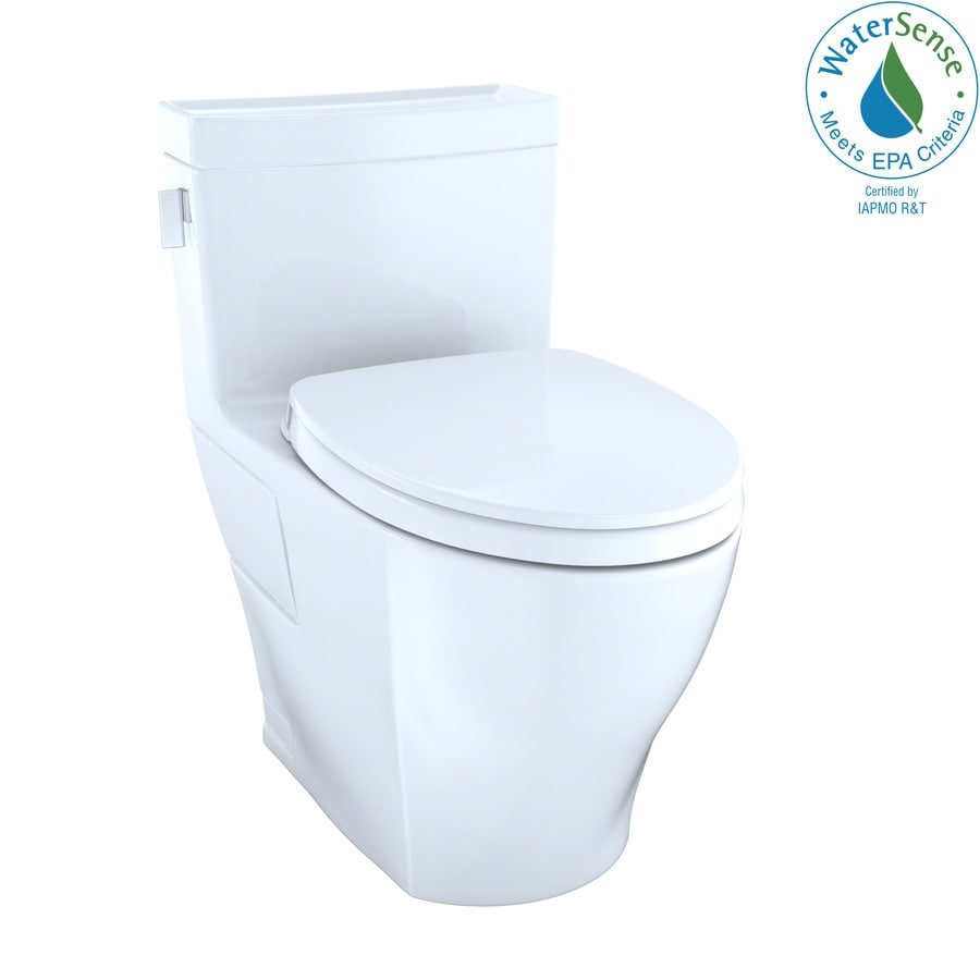 Toto Legato Cotton White Watersense Labeled Elongated Chair Height 1 Piece Toilet 12 In