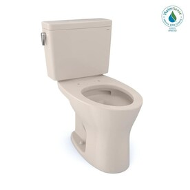 Toto Drake Sedona Beige Watersense Dual Flush Elongated Chair Height 2 Piece Toilet 12 In Rough In Size Ada Compliant In The Toilets Department At Lowes Com