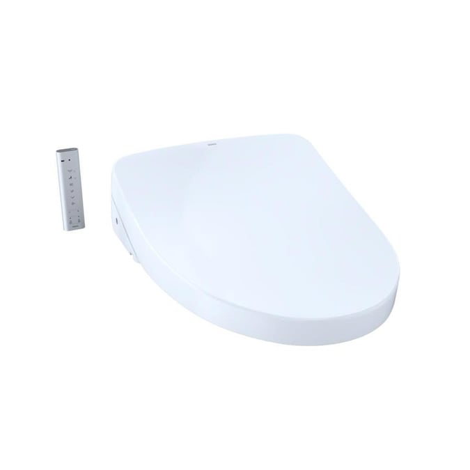 Toto Washlet Cotton White Elongated Slow Close Heated Bidet Toilet Seat In The Toilet Seats Department At Lowes Com