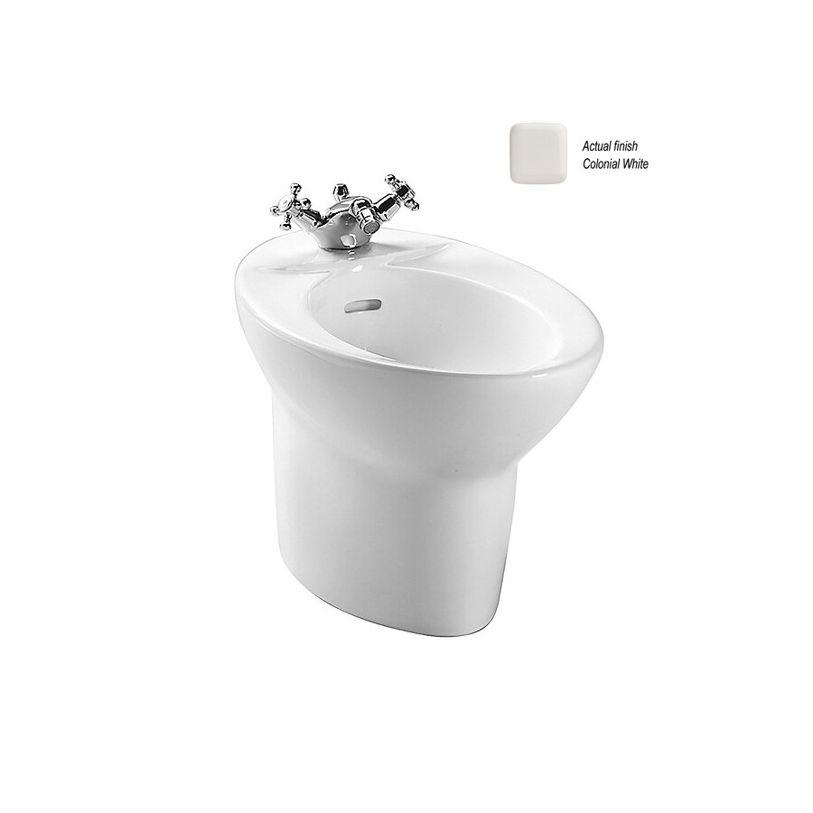 TOTO Pacifica 15-in H Colonial White Elongated Bidet