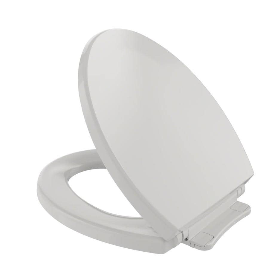 TOTO Colonial White Plastic Round Slow Close Feature Toilet Seat