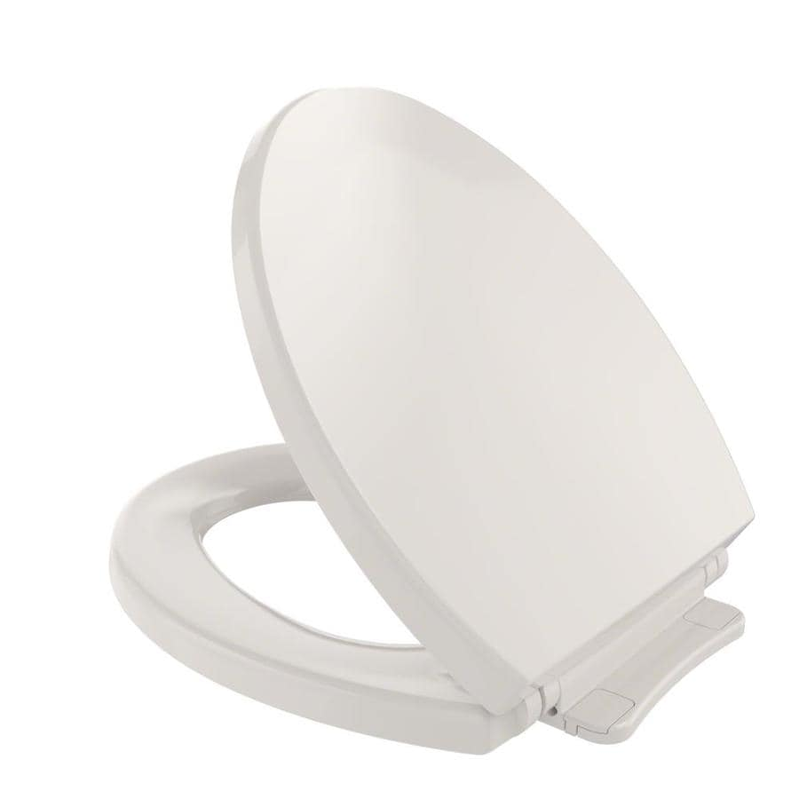 TOTO Sedona Beige Plastic Round Slow Close Feature Toilet Seat