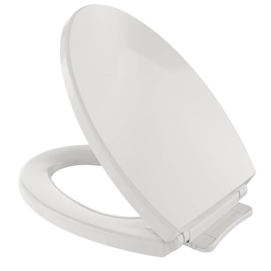 TOTO Colonial White Plastic Elongated Slow Close Feature Toilet Seat