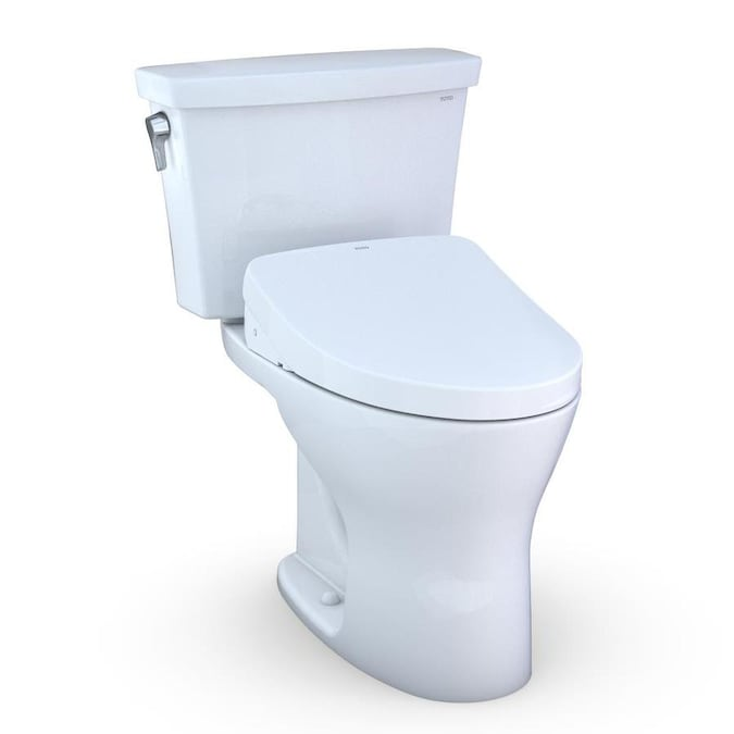 Toto Drake Cotton White Watersense Dual Flush Elongated Standard Height 2 Piece Toilet 12 In Rough In Size Ada Compliant In The Toilets Department At Lowes Com