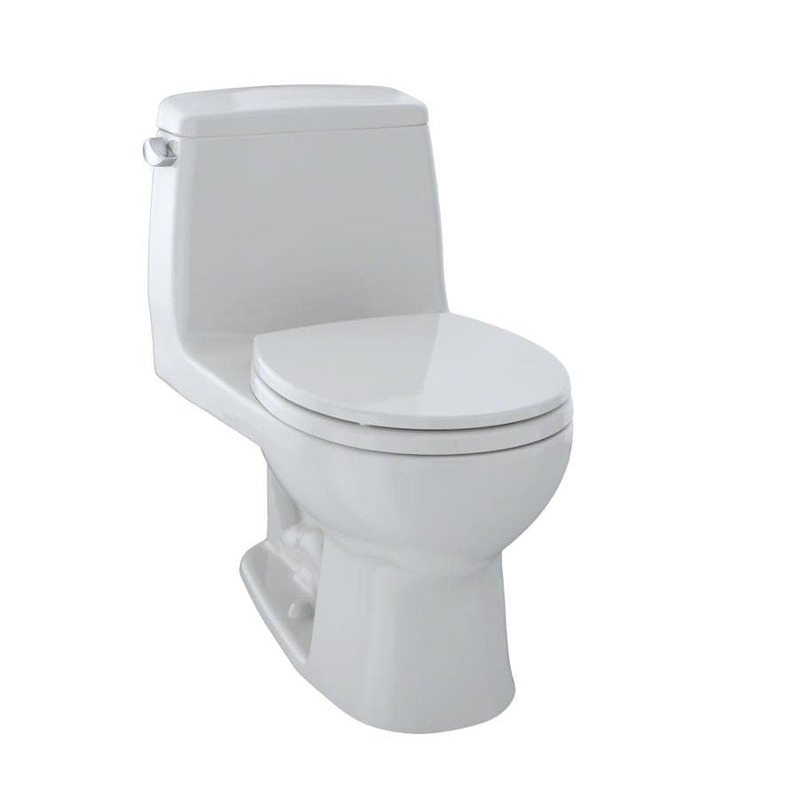 TOTO Ultramax Colonial White  Round Standard Height 1-piece Toilet 12-in Rough-In Size