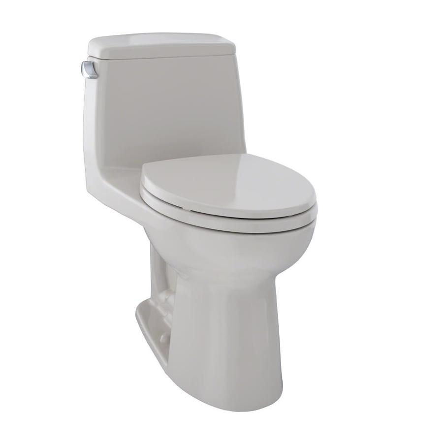 TOTO Ultramax Sedona Beige  Elongated Standard Height 1-piece Toilet 12-in Rough-In Size