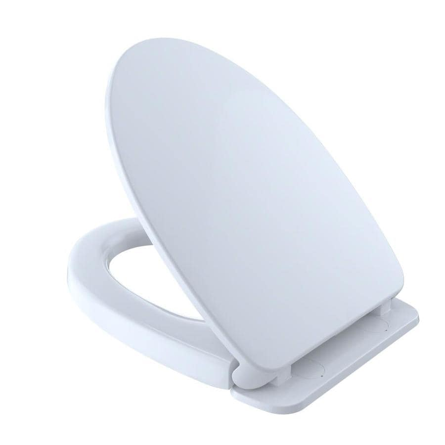 Toto Plastic Elongated Slow Close Toilet Seat At Lowes Com