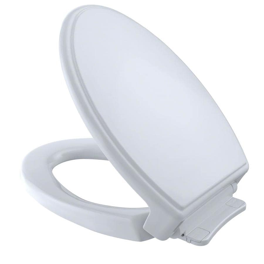 TOTO Cotton White Plastic Elongated Slow Close Toilet Seat