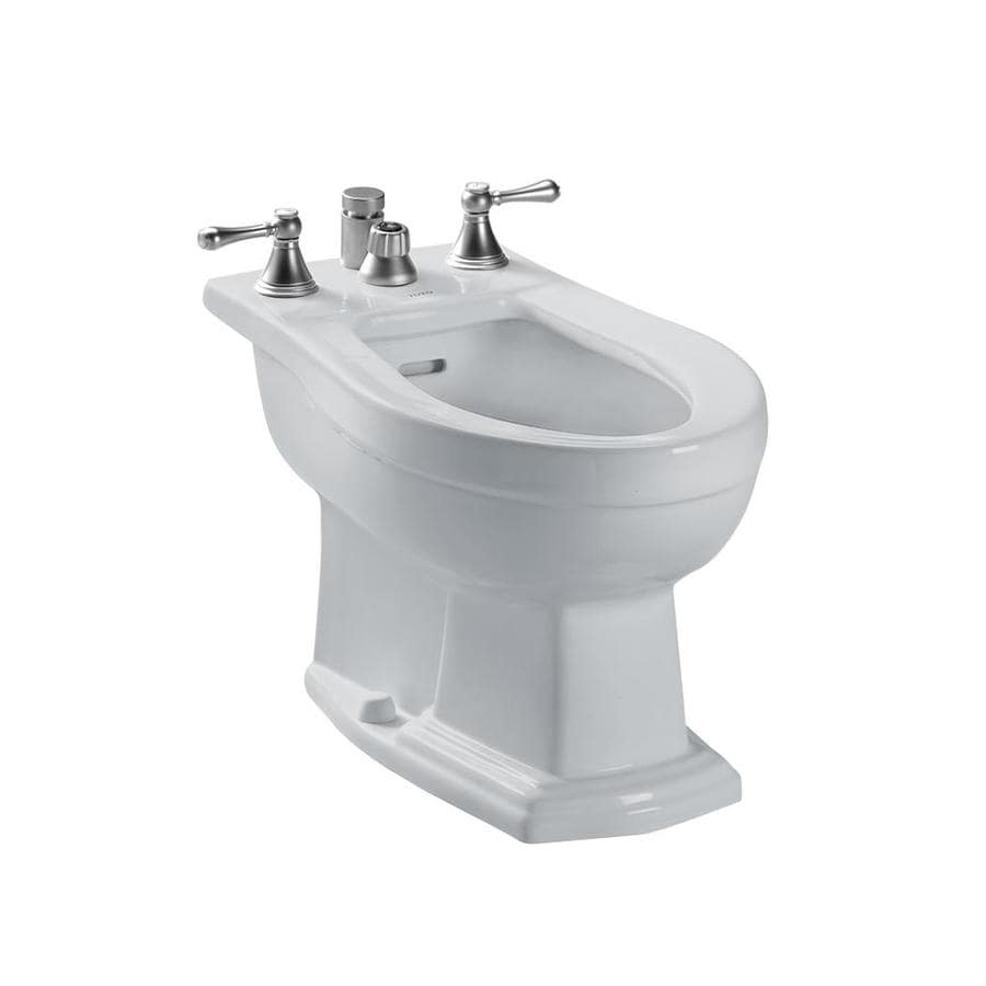 Shop TOTO Clayton 15-in H Colonial White Elongated Bidet at Lowes.com