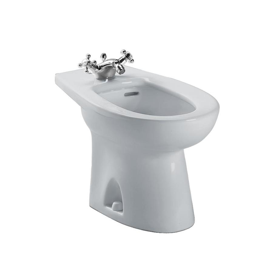 TOTO Piedmont 15-in H Colonial White Elongated Bidet