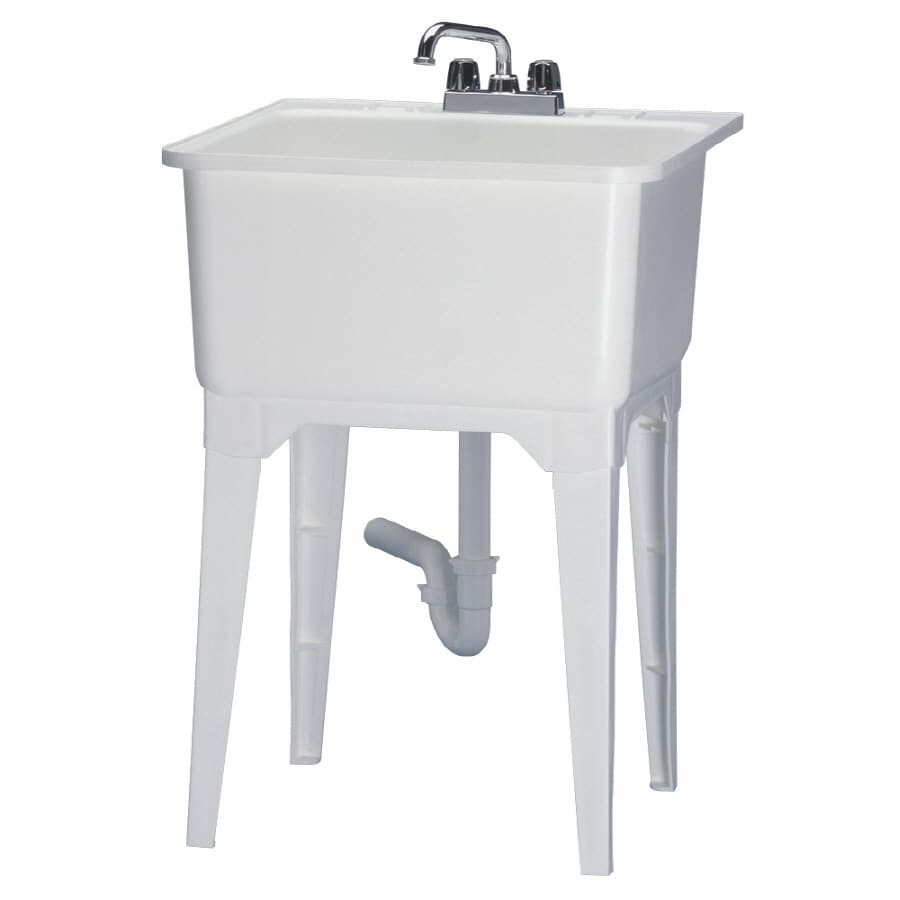 Shop ASB Freestanding Utility Sink with Faucet at Lowescom