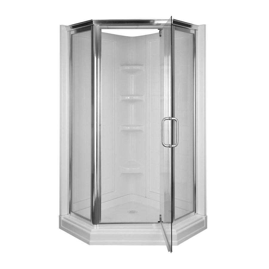 Aqua Glass 72-in H x 42-in W x 42-in L High Gloss White ...
