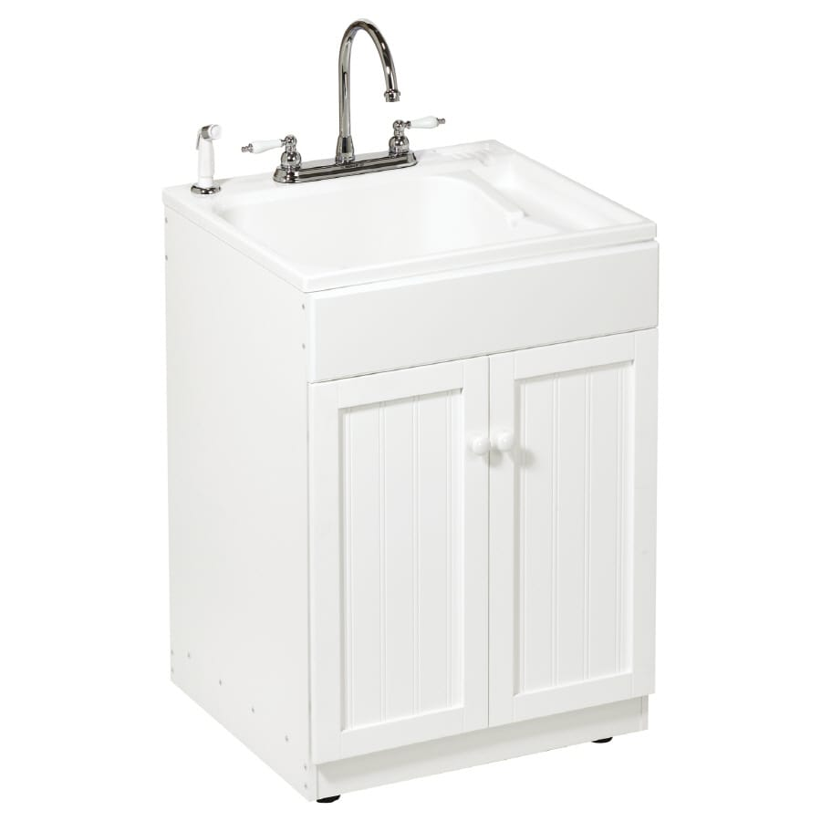 shop asb all in one utility sink cabinet kit at