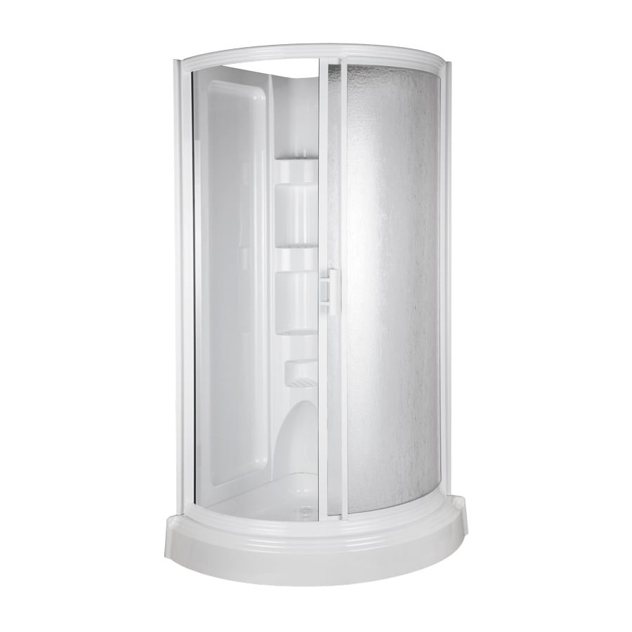 Aqua Glass 78-in H x 37-3/4-in W x 37-3/4-in L High Gloss ...