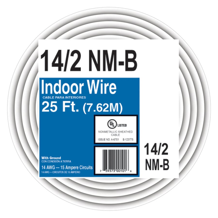 25 Ft 14 2 Nmb Wire Wiring Diagram Online Electrical Cerrowire 12 Underground Shop Non Metallic By The Roll At Lowes Com Two Way Switch