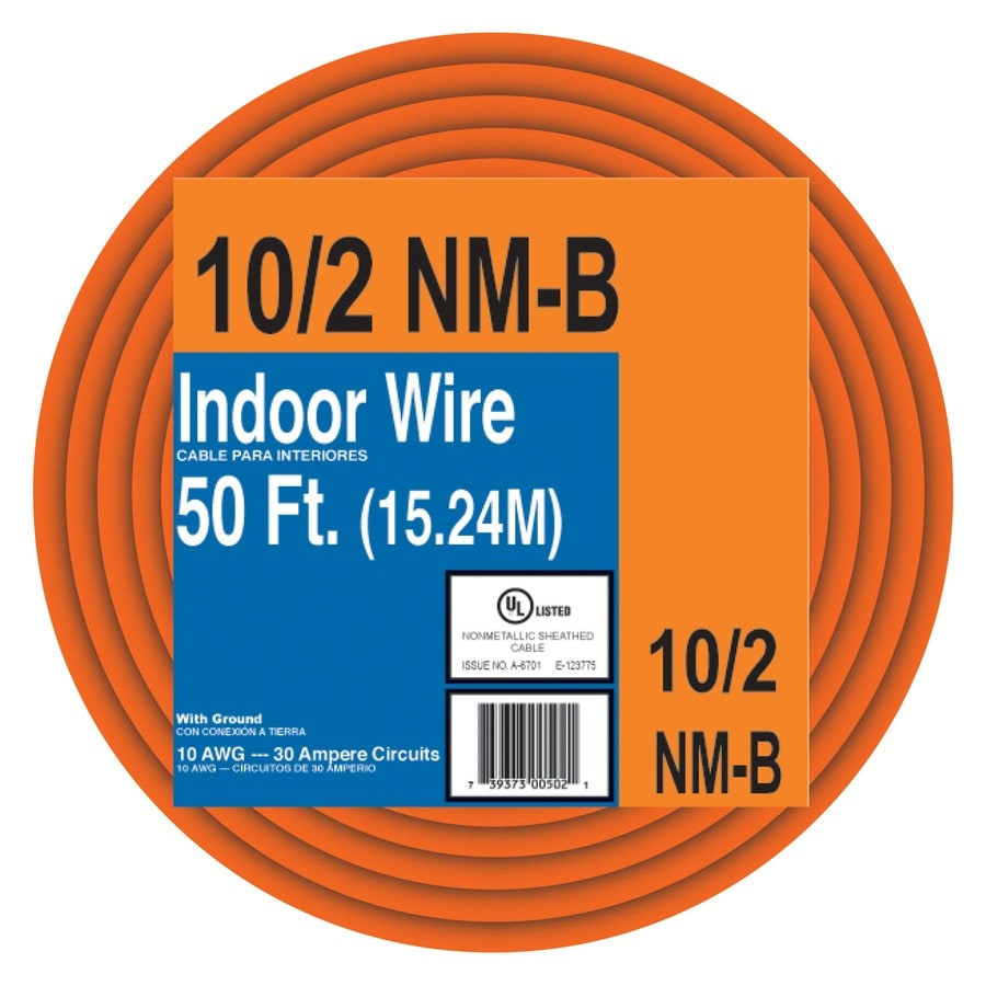 Shop 50-ft 10-2 Indoor Non-Metallic Wire (By-the-Roll) at Lowes.com