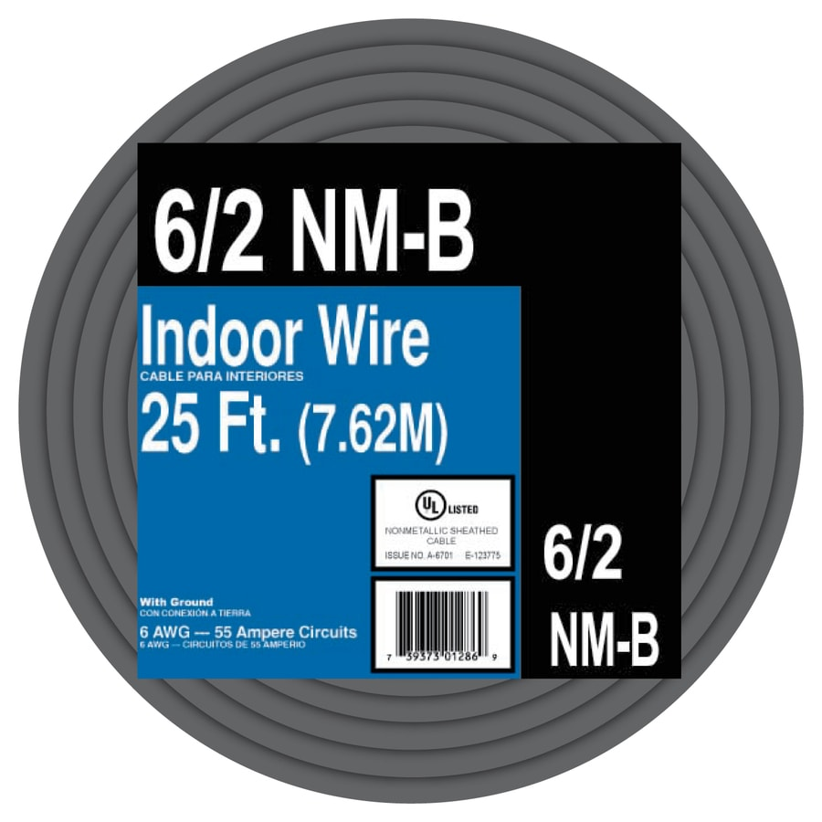 Encore Wire 25-ft 6-2 Non-Metallic Wire (By-the-Roll)