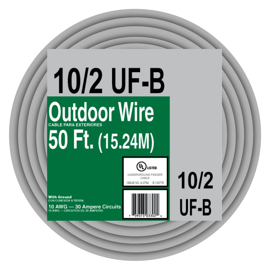 Shop 50-ft 10-2 Outdoor UF Underground Feeder Wire (By-the-Roll) at ...