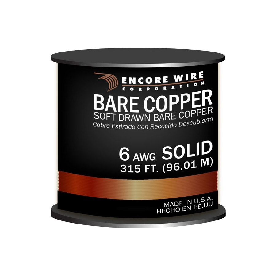 Shop Encore Wire 6-Gauge Solid Soft Drawn Copper Bare Wire (By-the ...