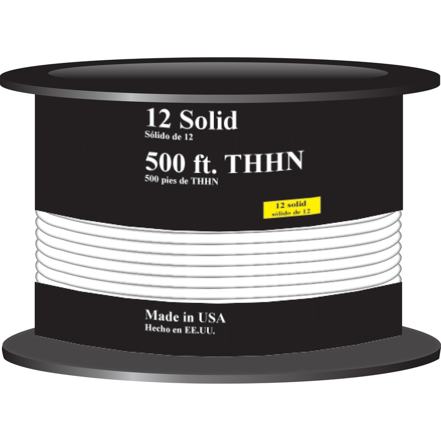 Shop Encore Wire 500-ft 12-AWG Solid White THHN Wire (By-the-Roll ...