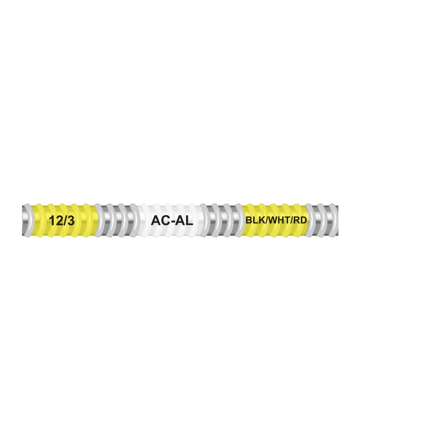 Encore Wire 50-ft 12-3 Solid Aluminum AC Cable
