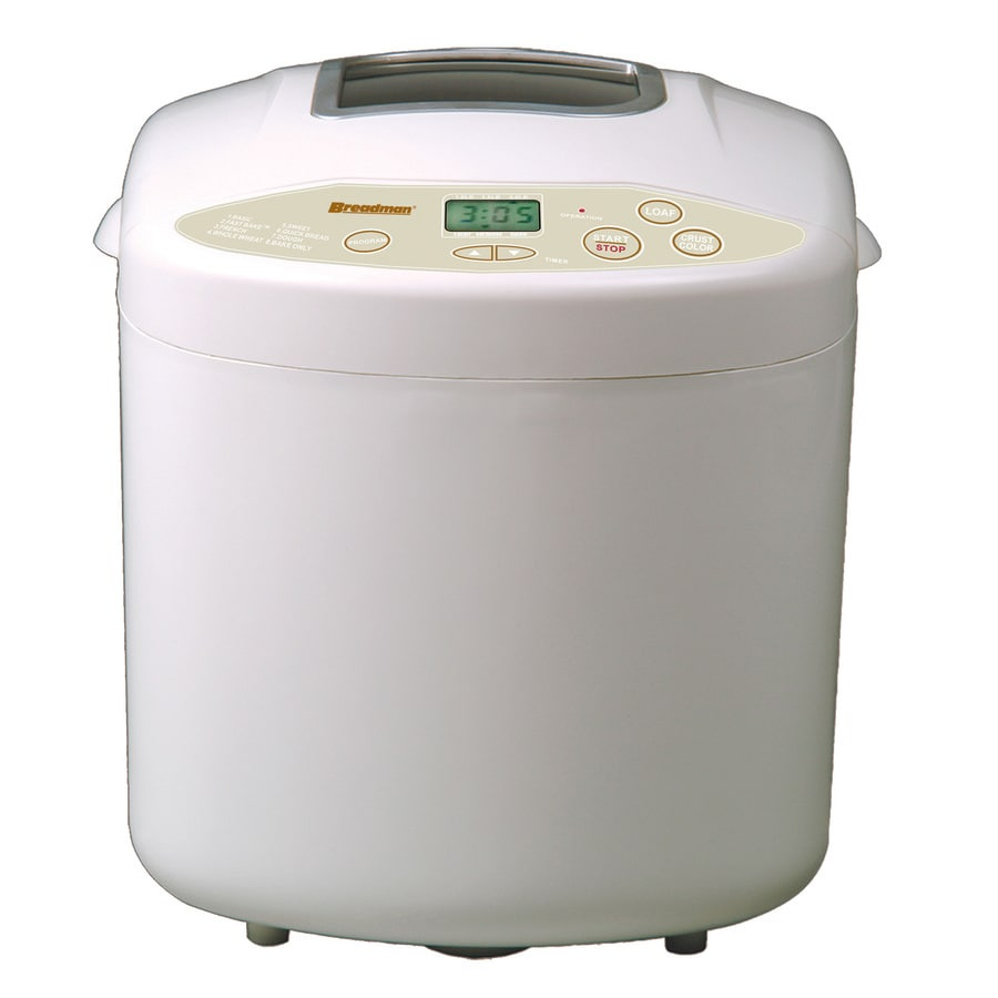 Breadman White Plastic Countertop Bread Maker
