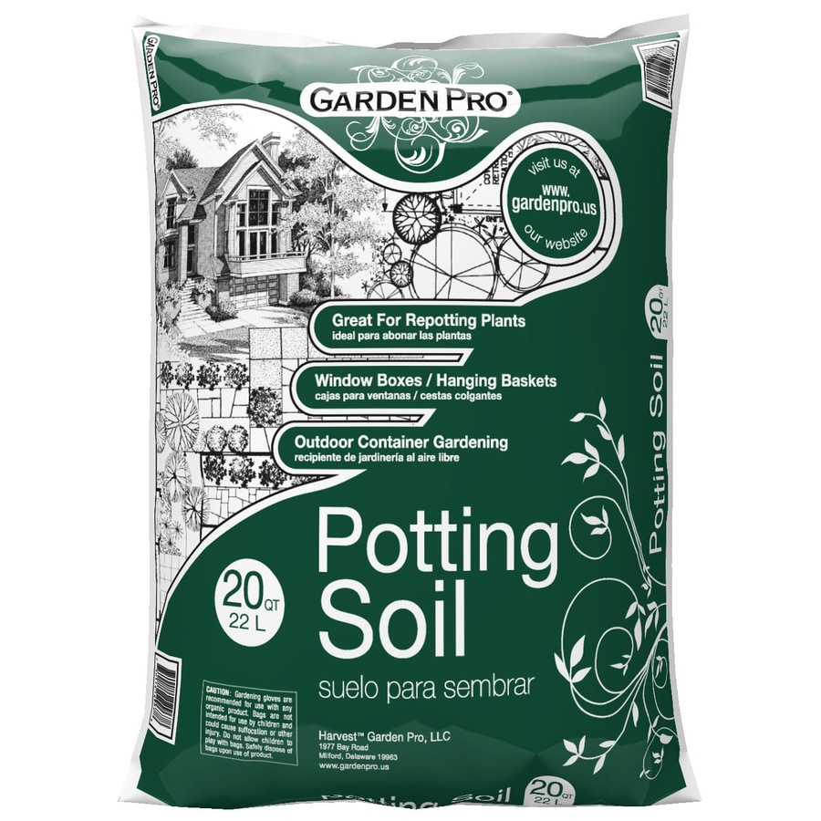 Shop garden pro 20 quart s potting soil at for Garden soil or potting soil
