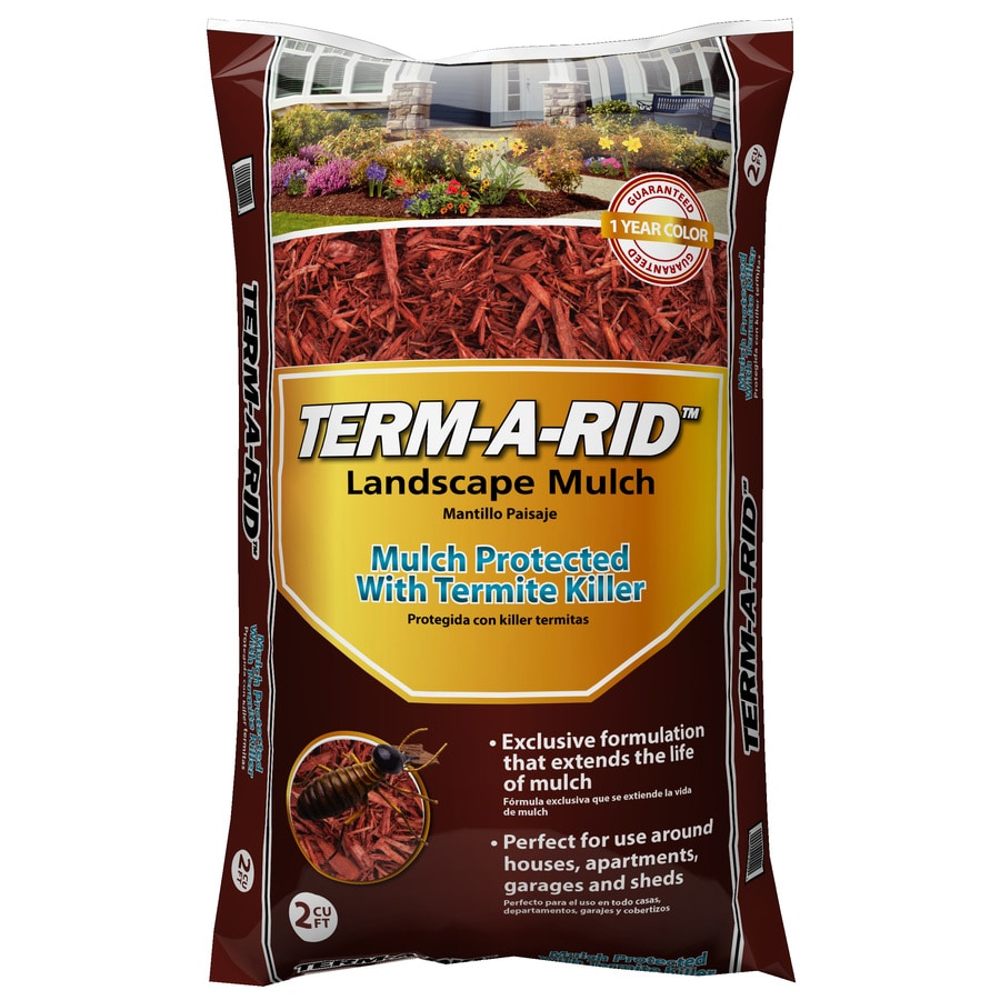 Term-A-Rid 2-cu ft Dark Brown Hardwood Mulch