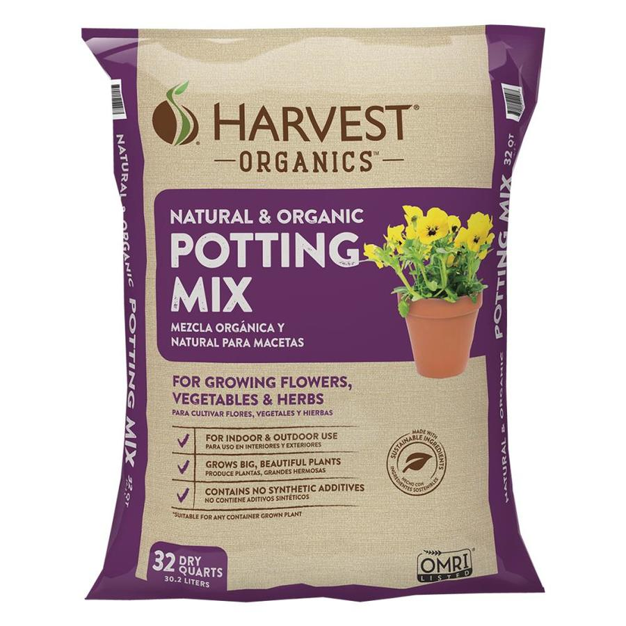 shop harvest organic 32 quart potting mix with fertilizer