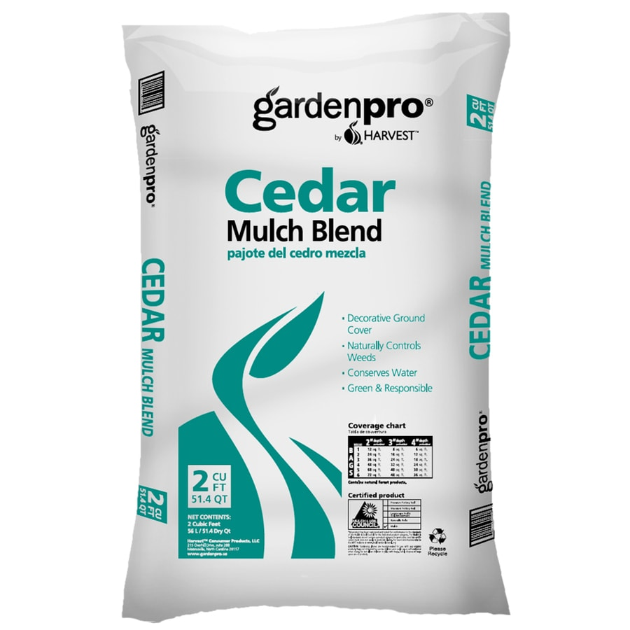GARDEN PRO Garden Pro by Harvest 2-cu ft Brown Cedar Blend Mulch
