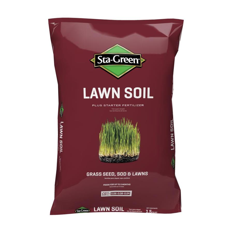 Shop sta green 1 5 cu ft lawn soil at for Soil and green