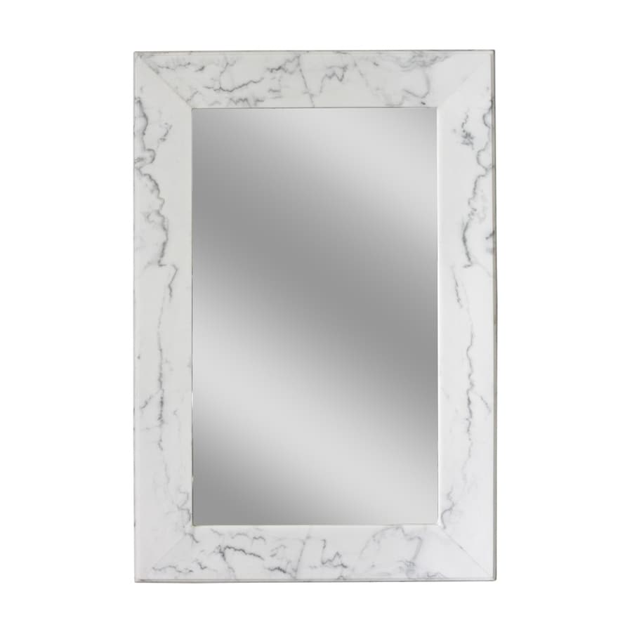 Allen Roth White Wall Mirror