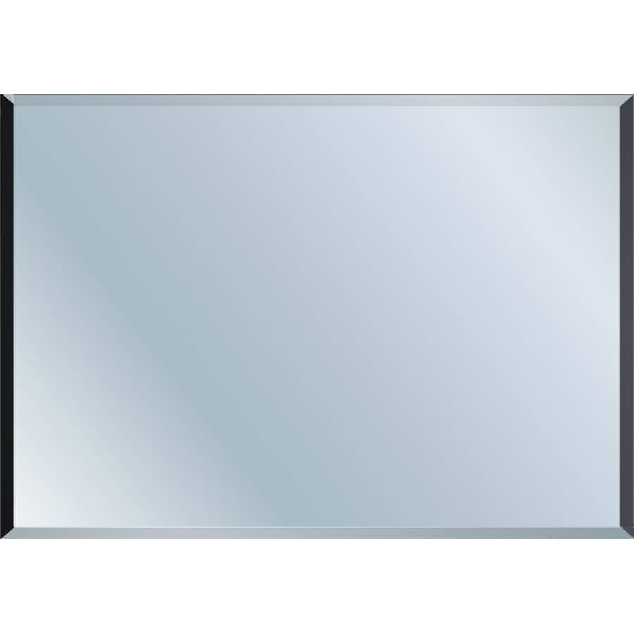 Shop beveled frameless wall mirror at for Frameless wall mirror