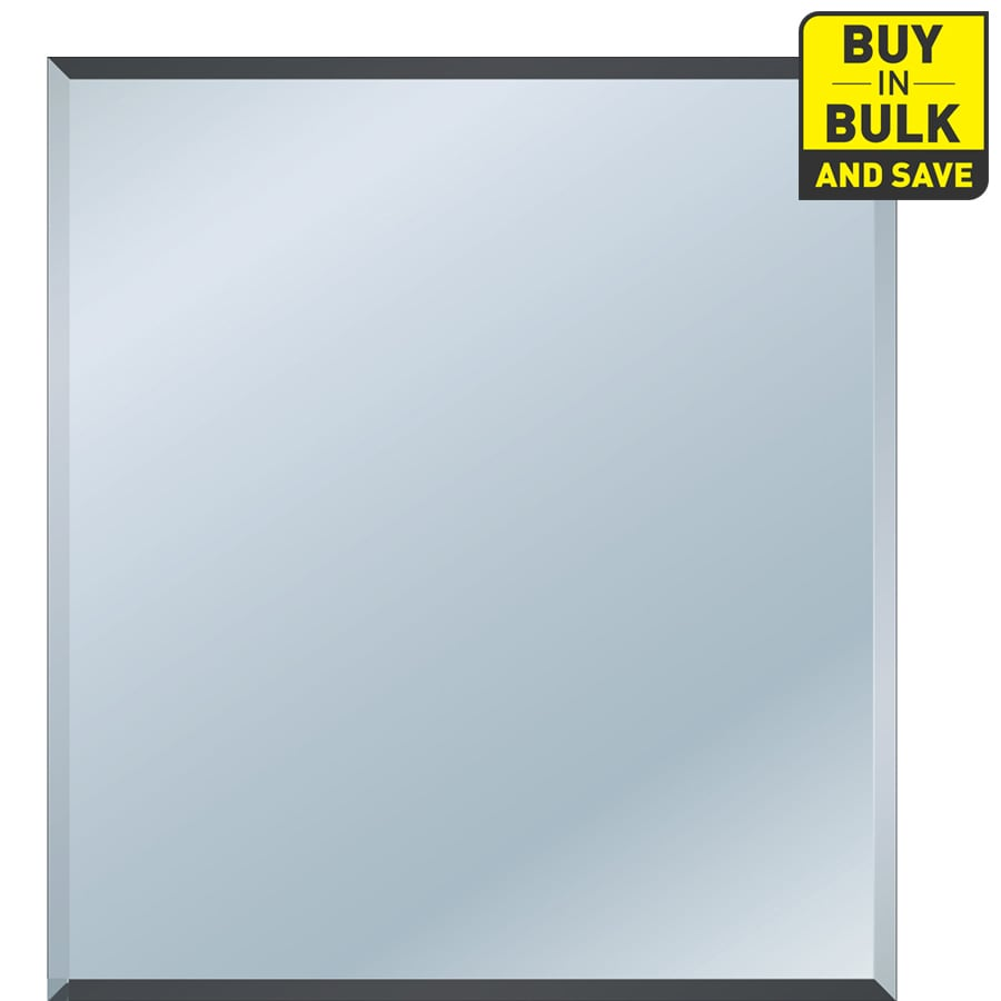 Style Selections Beveled Rectangle Frameless Wall Mirror