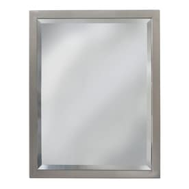 Delicieux Allen + Roth 24 In X 30 In Rectangular Framed Bathroom Mirror. Brush Nickel  Manufacturer ...