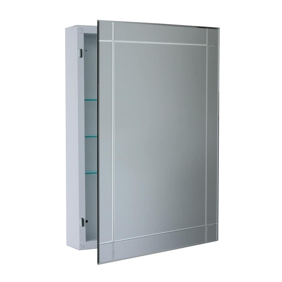 x rectangle surface mirrored steel medicine cabinet