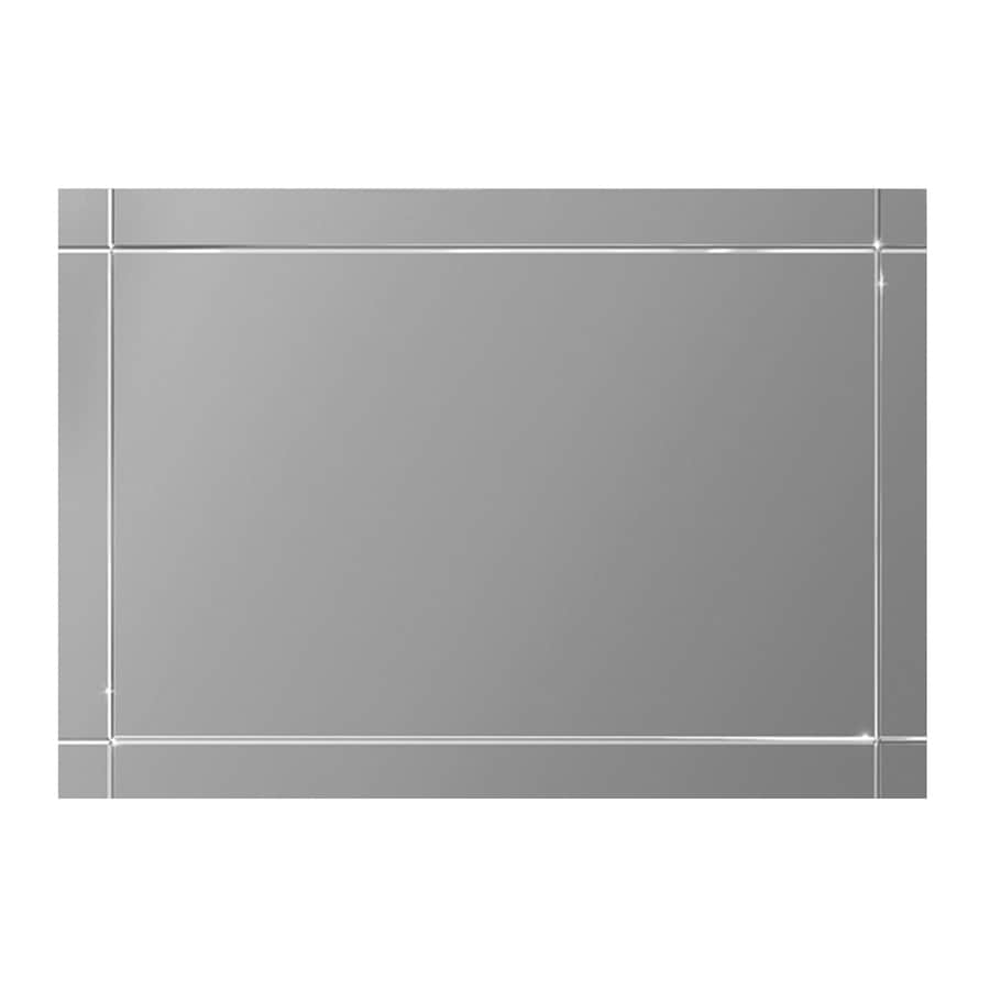 Style Selections 48-in x 36-in V-Groove Edge Wall Mirror