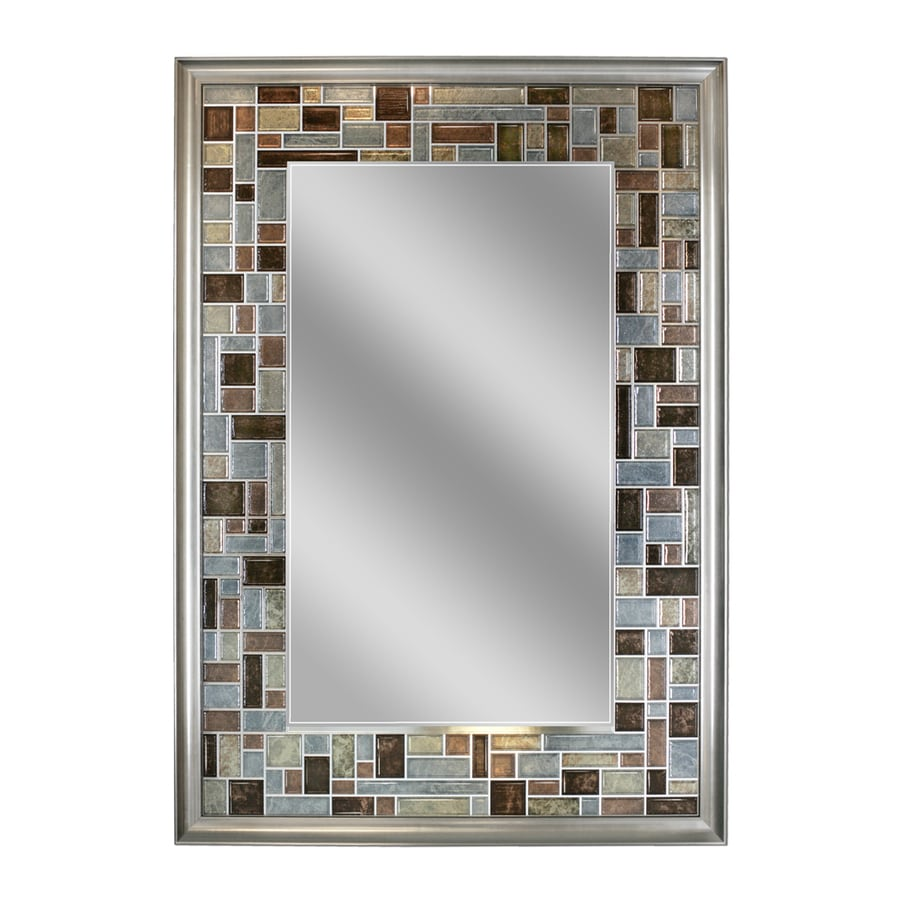 Shop allen + roth Gray/Browns Polished Wall Mirror at Lowes.com