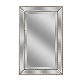 allen + roth 32-in L x 20-in W Silver Beveled Wall Mirror